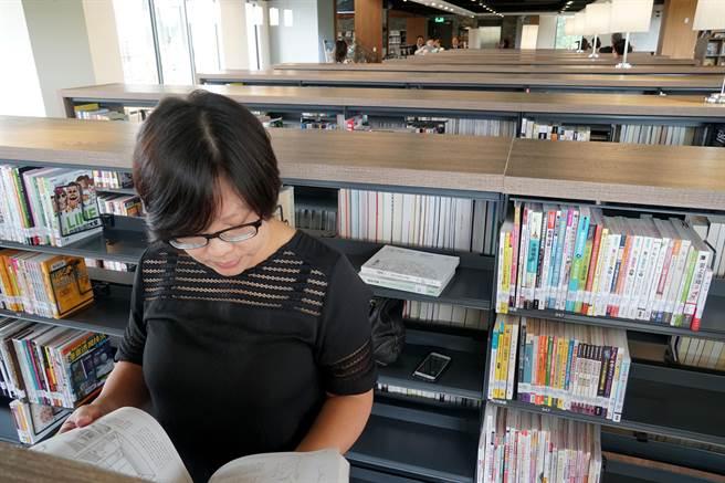 台中李科永紀念圖書館20日開幕,全館藏書5萬5千冊。(黃國峰攝)