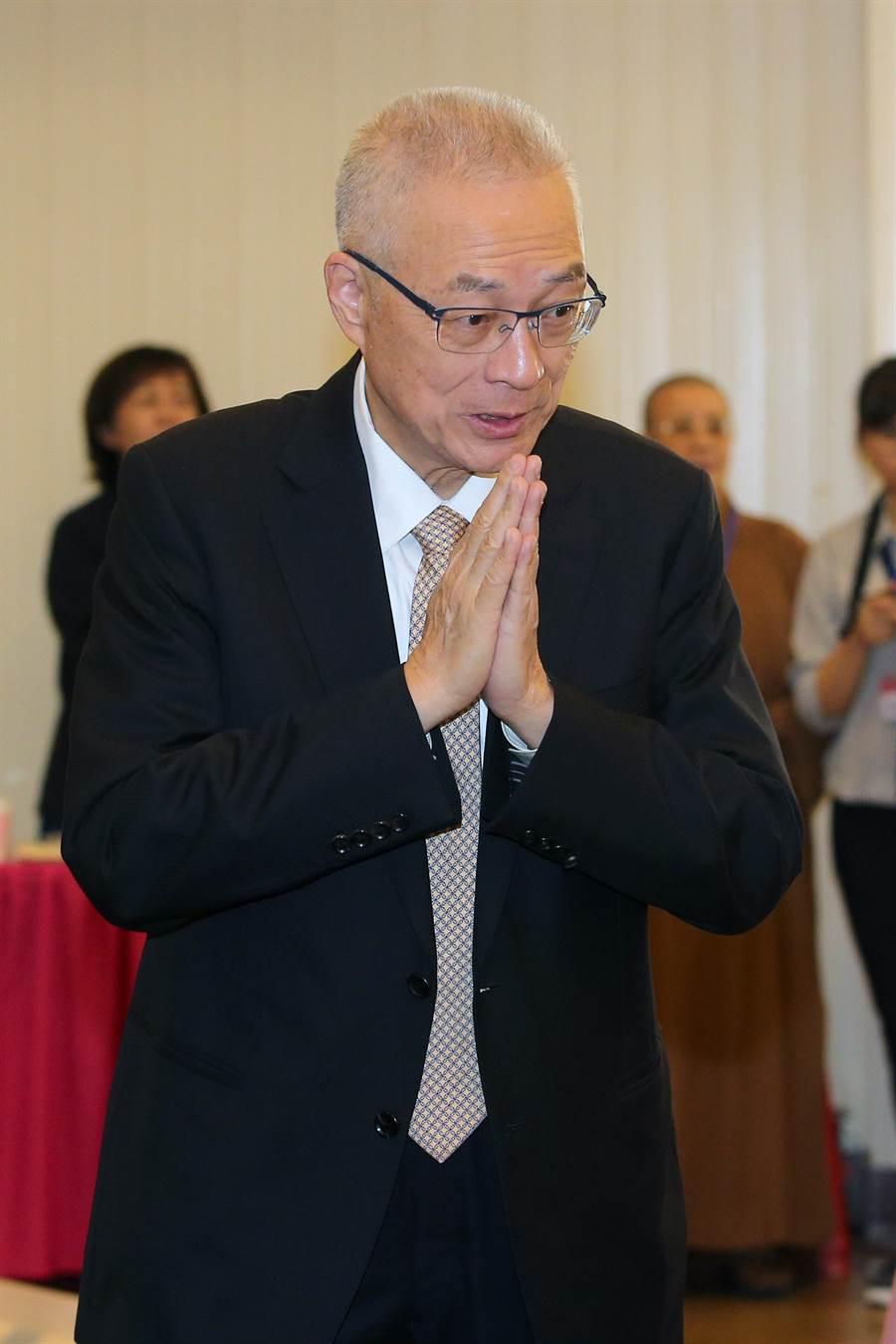 國民黨主席吳敦義。(圖/本報資料照,黃世麒攝)