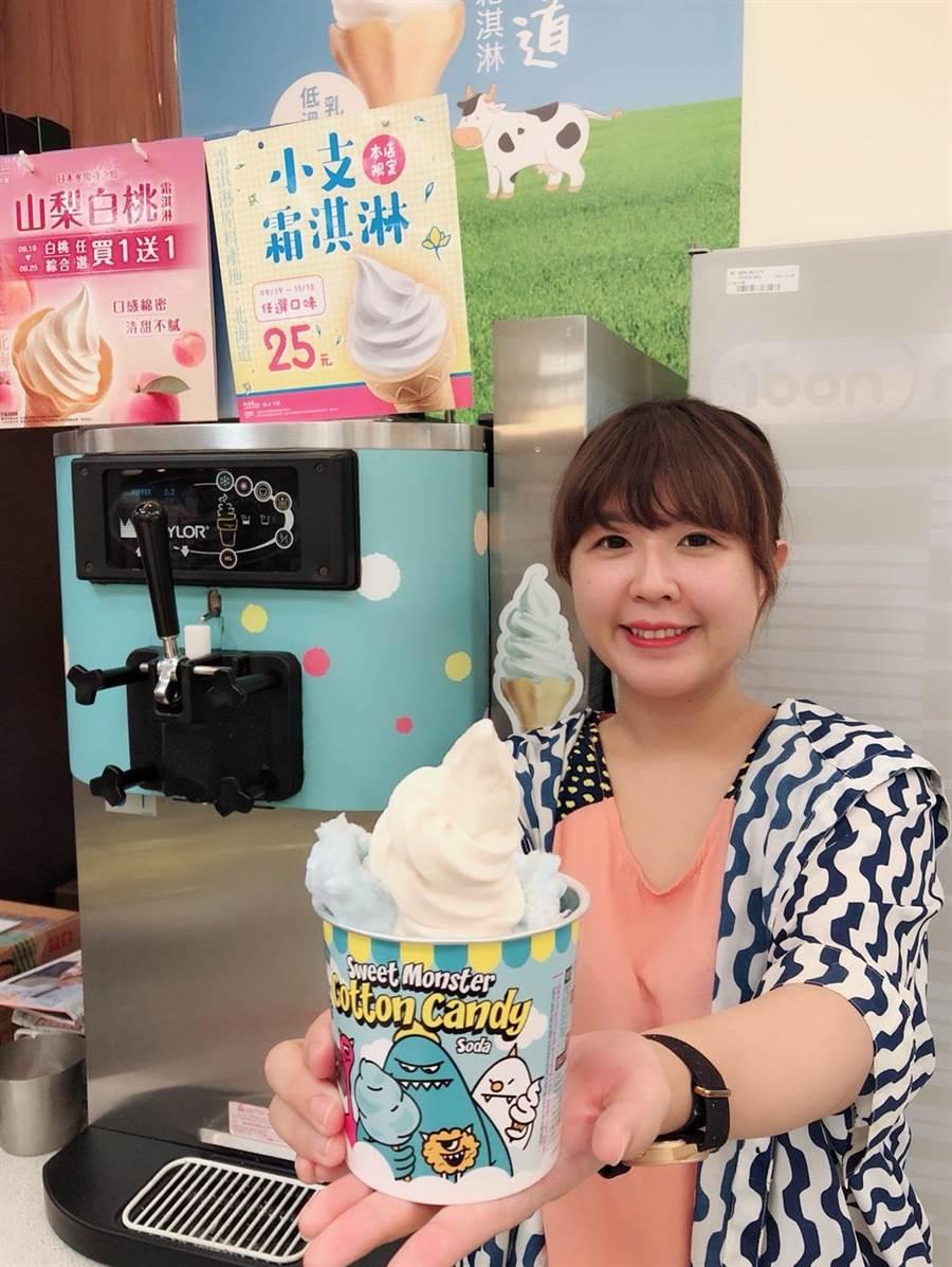 7-11與韓國超人氣冰淇淋品牌Sweet-Monster合作,推出限量6萬份的霜淇淋甜點新吃法。(7-11提供)