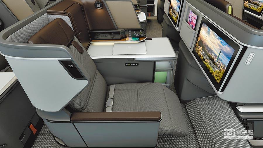 長榮航空首架787夢幻客機即將抵台,BMW集團旗下Designworks設計全新皇璽桂冠艙。
