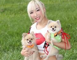 李宓攜愛犬穿「親子裝」助陣公益