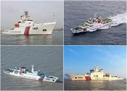 陸日海警船釣魚島海域對峙 衞星圖片拍下過程