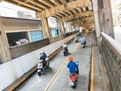 東大路機車地下道 50年首度整修