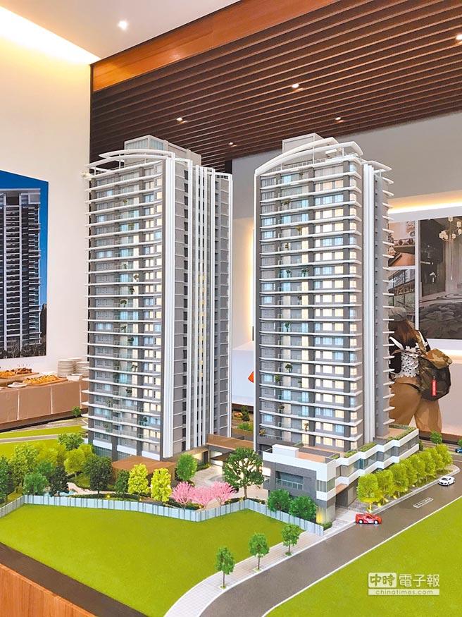 長虹建設與文心建設推出的都更案「忠孝詠吉」,吸引不少南港、內湖客戶買進。(王莫昀攝)