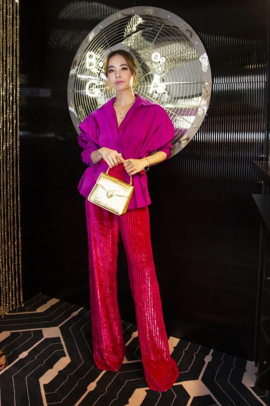 蔡依林赴巴黎參與米蘭時裝周。(翻攝寶格麗微博)