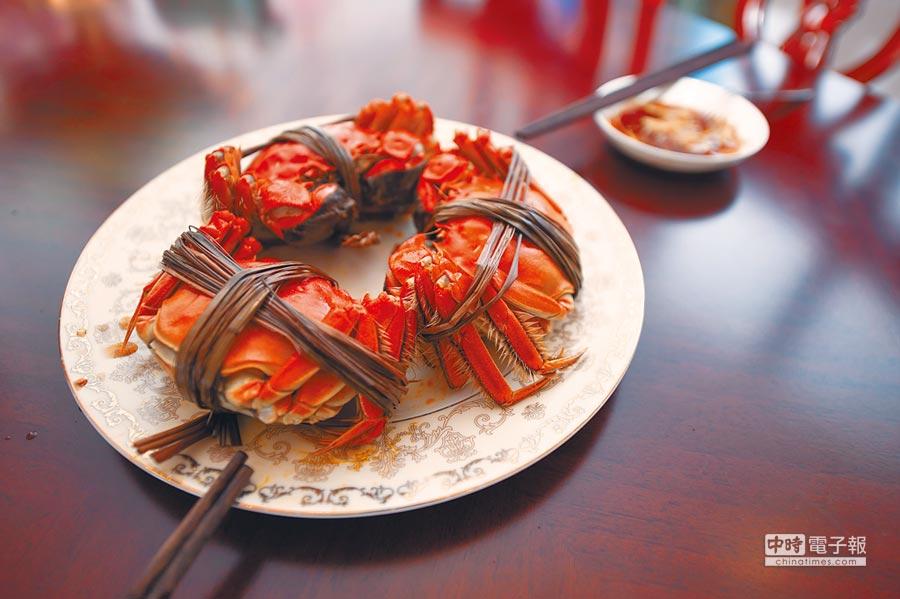 烹飪完成的陽澄湖大閘蟹。(新華社資料照片)