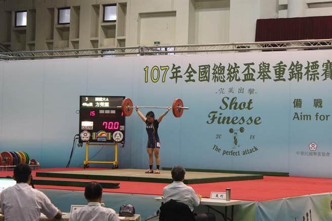 總統盃舉重錦標賽今天起一連7天在台南新營體育館舉行。(莊曜聰攝)