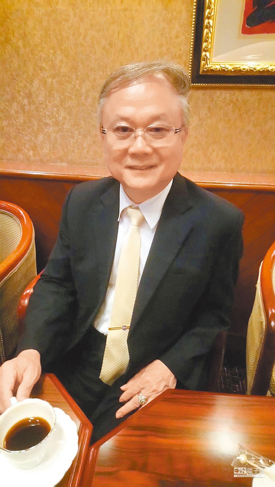 豪門文化科技創意有限公司董事長簡廷在。(記者楊家鑫攝)