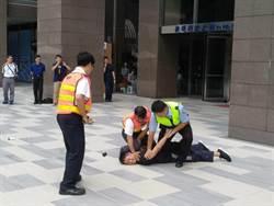 防恐慌踩踏造成意外 捷運警察與捷運公司安全演練