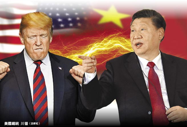 美國總統川普(左)(法新社)、大陸國家主席習近平(右)(美聯社)。