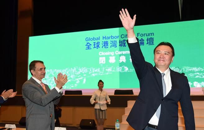 高雄代理市長許立明期待港灣城市論壇,永續傳承。(圖/高雄經發局提供)