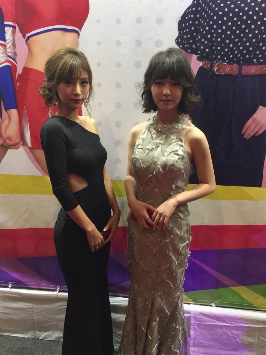 17 Media最美直播主石原彩香(圖左)獲獎,每月打賞可買台車,YUA(圖右)則是名高中生,累積19萬粉絲。(洪凱音攝影)