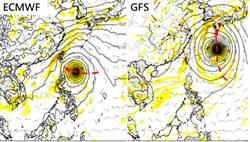 熱帶擾動發展中 歐美模式:台灣都在暴風圈範圍內