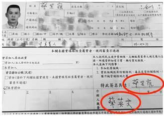 金門》出示申請資料!國民黨爆蔡其雍由蔡英文推薦入黨