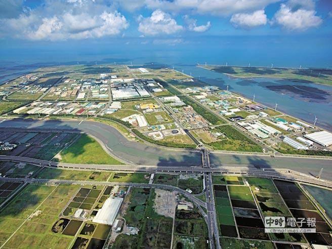 圖為工業區土地空照圖。(經濟部工業局提供)