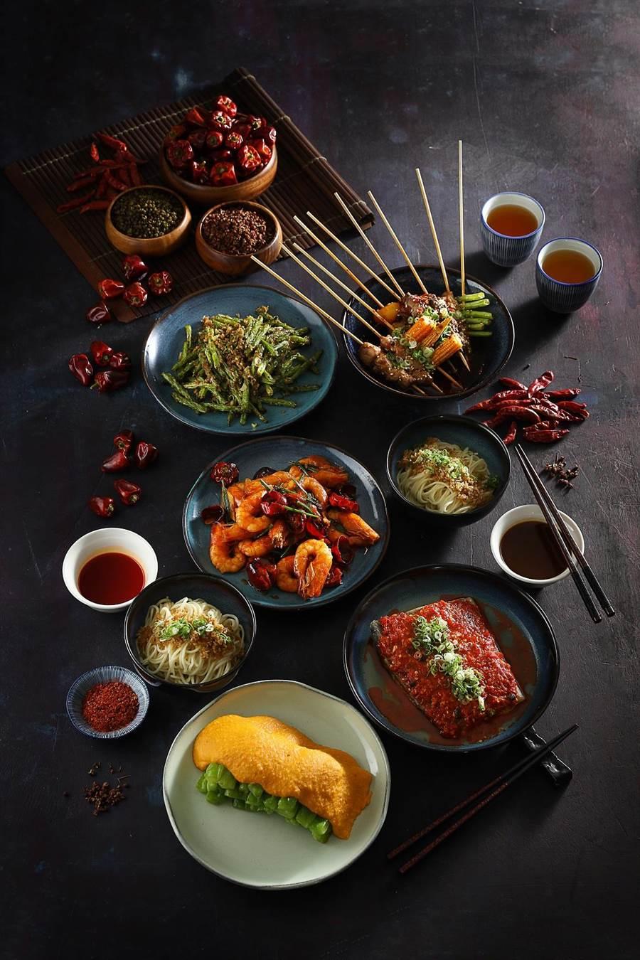 新光三越信義A9 6F「PACKIE 」10月9日開幕,是以台菜聞名的銀杏台式料理打造的新派川菜品牌。(新光三越提供)