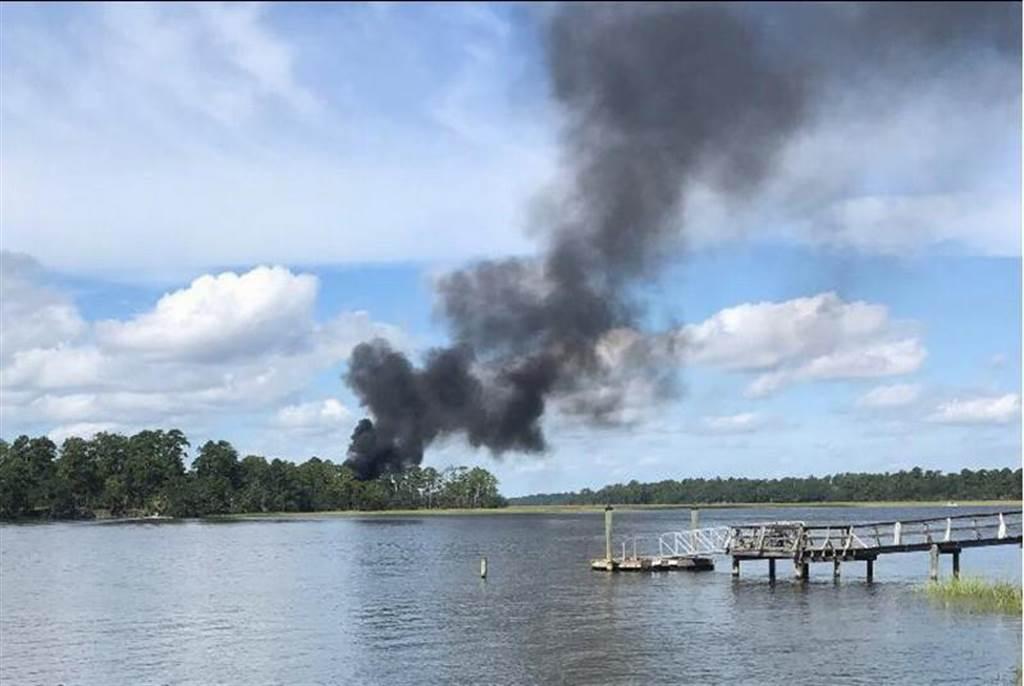 一架美國海軍陸戰隊F-35B戰機9月28日在波福海軍陸戰隊航空基地附近墜毀。(路透)