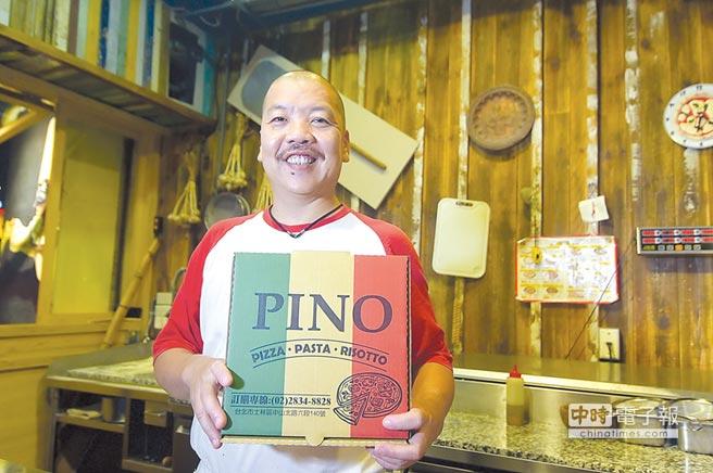 天母〈PINO〉主人兼主廚謝宜榮是台灣最早烤製標準拿坡里披薩的開路先鋒,如今他跟上食潮主攻盤烤的米蘭披薩。圖/姚舜