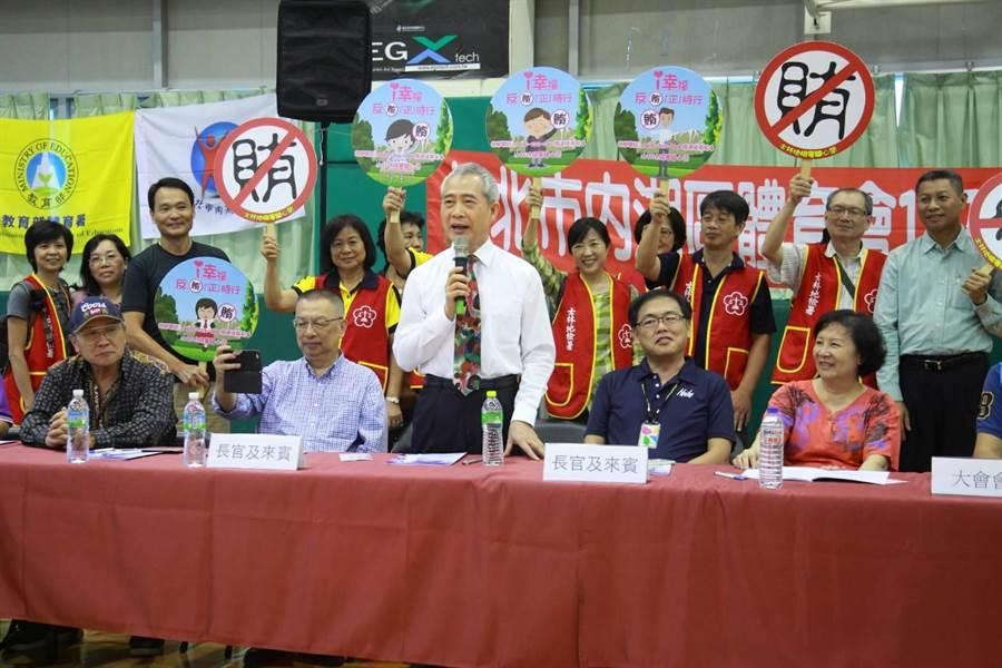 士檢檢察長姜貴昌呼籲民眾以具體行動支持地檢署查察賄選的作為,人人成為反賄選的尖兵。(士林地檢署提供)
