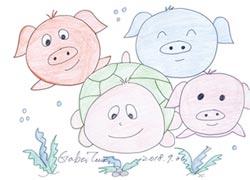 政商巫巫茲拉-三隻小豬與海龜的故事