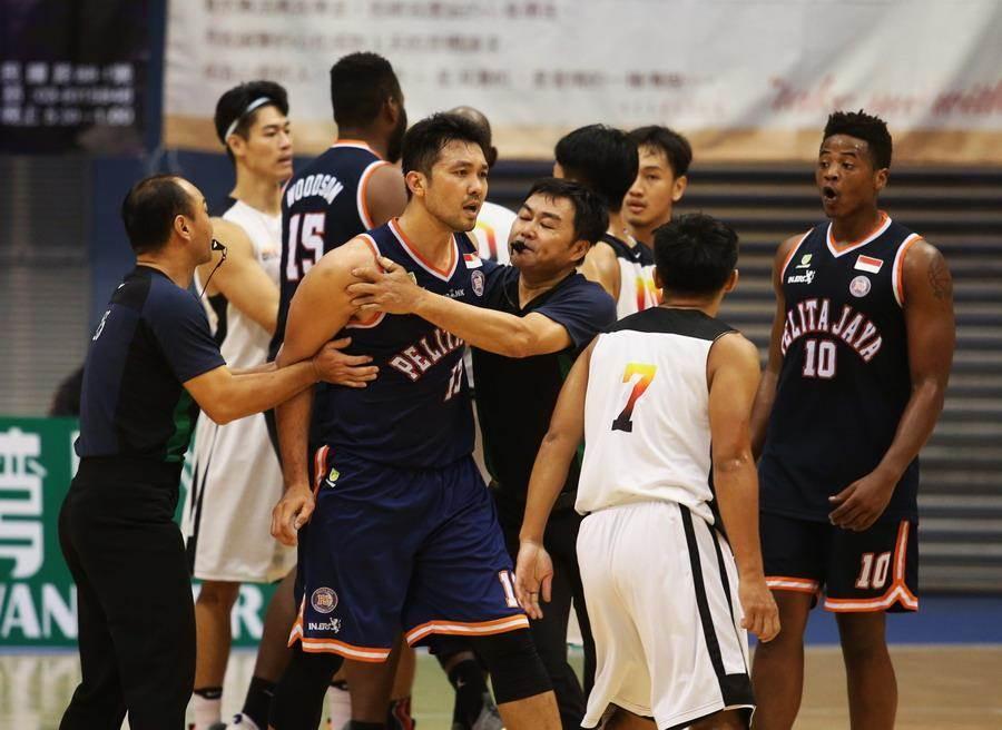 台銀楊天佑跟印尼對手爆發口角衝突。(觀護盃提供)