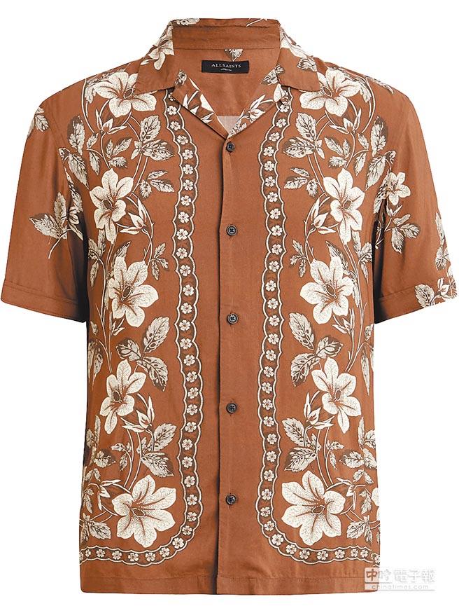 AllSaints Baton印花襯衫,4400元。(AllSaints提供)