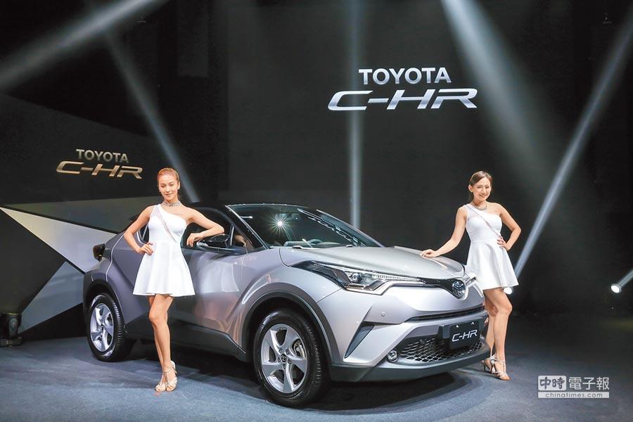 進口車熱銷牽動銷售策略,和泰車轉向增加進口車銷售車種、銷售量,強化經營。圖為發表以來討論度極高的TOYOTA C-HR,今年累積銷售已突破3千台。(本報資料照片)