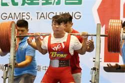中市健力選手江凱傑破全民運三項紀錄 摘金三連莊