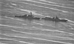 陸美軍艦南海險相撞照片曝光 學者:美軍心態自大