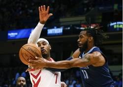 NBA》安森尼熱身賽先發13分 火箭主場轟垮灰熊