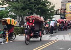 全國第一台觀光三輪車 彰化鹿港掛牌上路