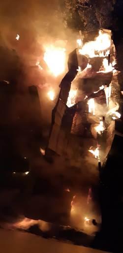 台中檜木浴桶工廠大火 燒光百坪廠房損失600萬元