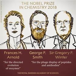 影》利用演化力量造福人類 美英3學者獲諾貝爾化學獎