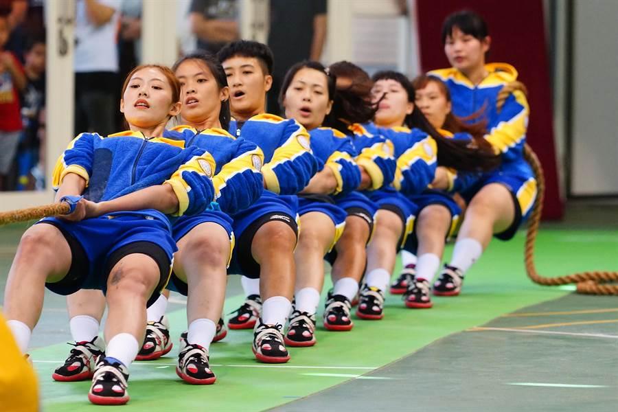 女子拔河室內500公斤級金牌。(圖/台中市府提供)