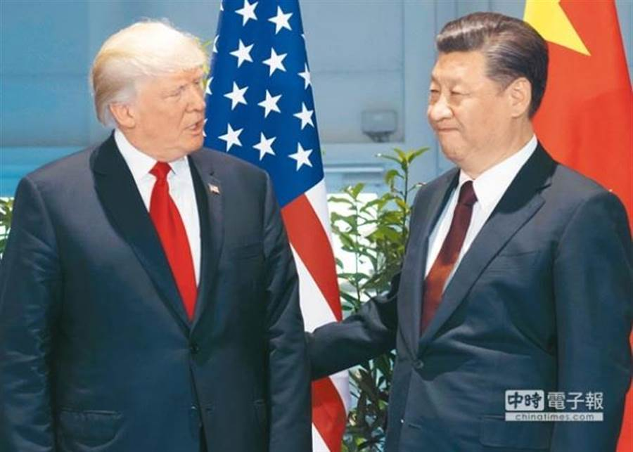 美國總統川普去年和中國大陸國家主席習近平會面。(美聯社資料照片)