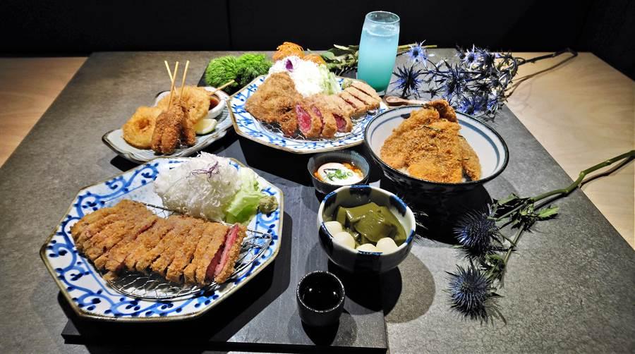 京都勝牛台灣菜單內容沿襲日本經典菜色,包括熱門排行榜前三名餐點「元祖炸牛排」、「和式牛醬丼」、「日式牛排炸串」及台灣獨家限定澳洲「極上和牛」均將原汁原味呈現。(林資傑攝)