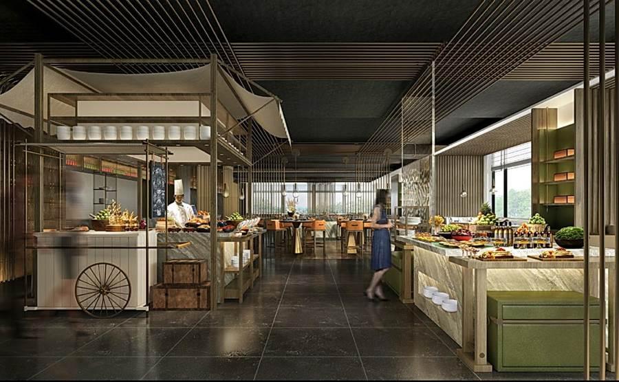 主打道地西班牙料理與主廚創意料理的〈悅 市集Market Flavor〉,是台北新板希爾頓酒店館內全日餐廳。(圖/台北新板希爾頓酒店)