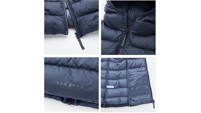 UNIQLO 「Light Warm Padded輕暖空氣外套」特別為兒童加入多處貼心的小設計。/圖片來源:截自UNIQLO官網