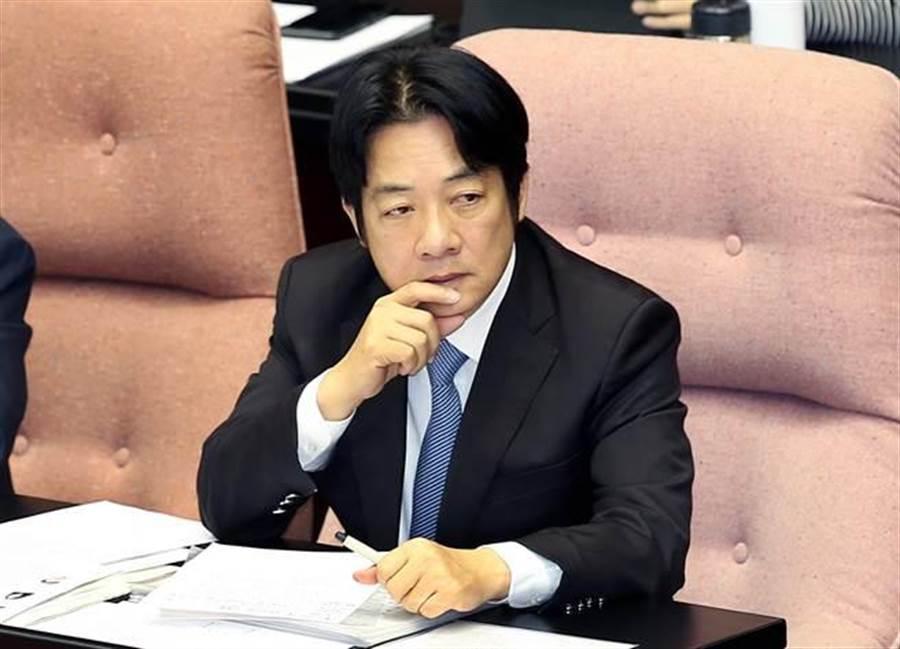 針對外界質疑台灣成美國「政治提款機」,行政院長賴清德5日在立法院表示,不必擔心支持我們的人,或說我們反而成為人家的棋子,這樣論述應該是不存在的。(姚志平攝)