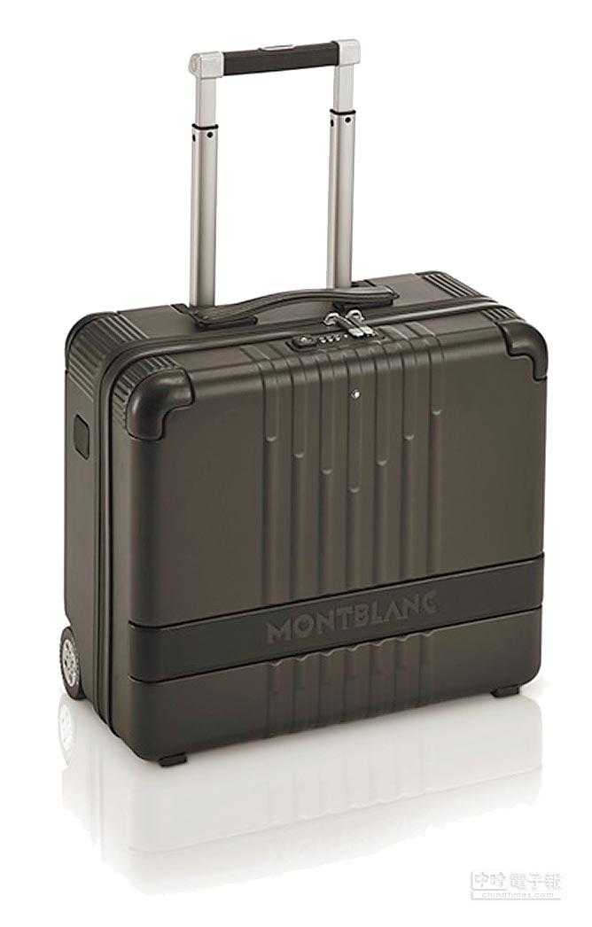 萬寶龍#MY4810黑色登機箱,2萬3000元。(Montblanc提供)