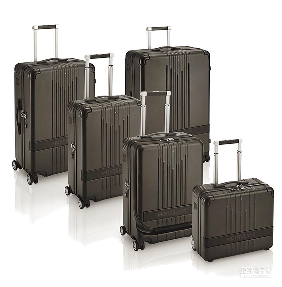 萬寶龍#MY4810黑色行李箱,2萬1700元至3萬1400元。(Montblanc提供)