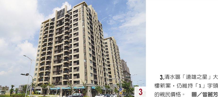 3.清水區「遠雄之星」大樓新案,仍維持「1」字頭的親民價格。圖/曾麗芳