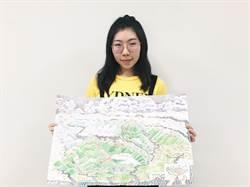 台南親山步道行地圖上線 手繪風格吸睛