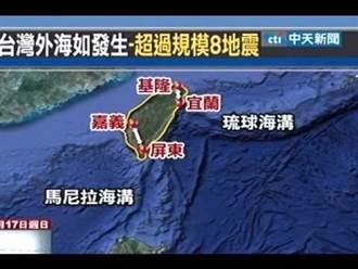 馬尼拉海溝強震週期已到 專家:台灣恐現5公尺高海嘯