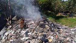 台中》中市檢警環破獲公墓違法露燃營建廢棄物