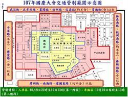 雙十國慶台灣英雄及國慶花車遊行 交管看這裡