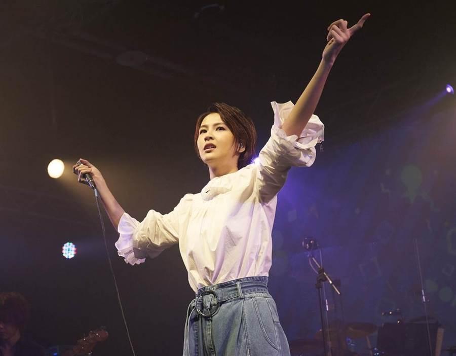 曾沛慈7日在台北Legacy開唱。(亞神音樂提供)