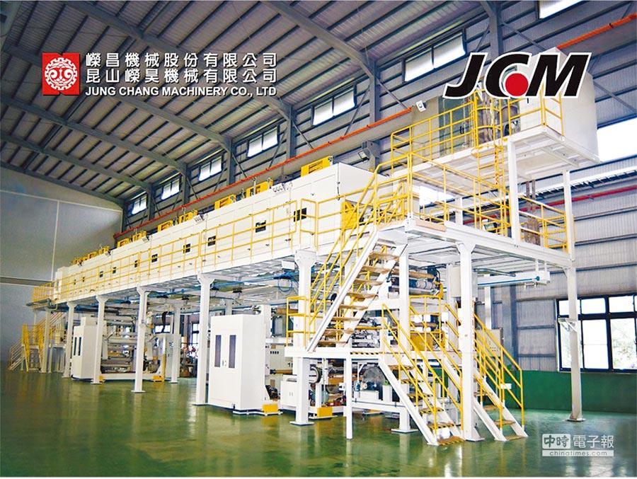 嶸昌無塵塗佈設備符合1000級的無塵標準,凌駕歐美日國際大廠。圖/業者提供
