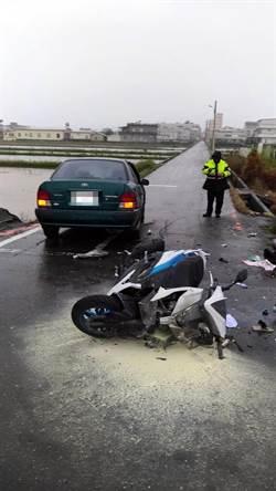 宜蘭機車小客車禍3送醫  18歲騎士命危急救中