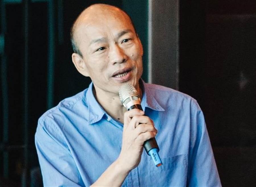 國民黨高雄市長候選人韓國瑜的好口才,讓王世堅懷疑他是嘴巴先生出來的嗎?(中時資料照 郭吉銓攝)